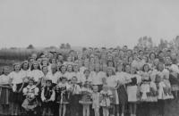 Slavnosti ke sjednocení tělovýchovy v Moravičanech v roce 1946
