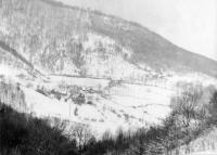 Osada Horná Stredná v zime