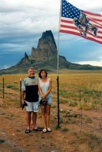 Anna Röschová s manželem Ludvíkem Röschem v Monument Valley v srpnu 1997