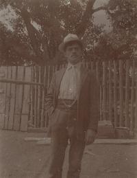 František Sklenář-Rott, dědeček pamětnice z matčiny strany, Kožlany 1912