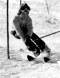 Olga Charvátová při slalomu v roce 1973 (2)