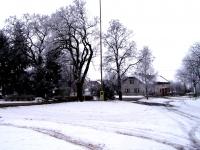 Rodný dům v Boješicích v zimě; 2008