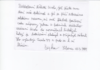 Františkův podpis Charty 77, 1981