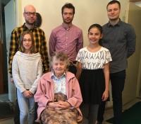 Otta Bednářová with the students team