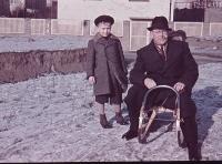Václav Bedřich s tatínkem v roce 1942