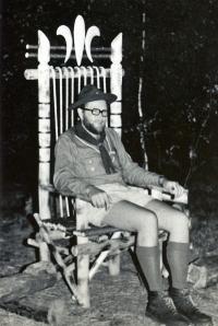 V roce 1970 na skautském táboře