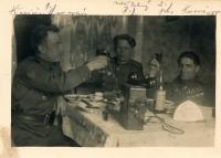 1945, květen, Olovnice, Řehovi zde byli evakuováni v rodině Brtnů po náletech v Kralupech