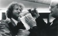 Manžel Michal a adoptovaný syn Šimon, 2000