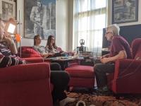 Natáčení s Janem Follem, únor 2020