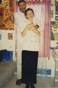 Jiří Prokop s manželkou Miriam v Izraeli, fotografie vznikla v roce 1994 nebo 1995