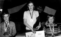 Olga Charvátová vyhrává titul přebornice ČSSR roku 1974