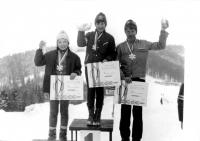 1. místo Olgy Charvátové na závodě mistrovství ČSSR 1973