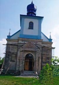 Kostel v Hrušvici na Ukrajině, kde byl Jaroslav Moravec ve 30. letech pokřtěn