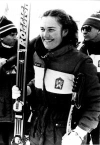 Olga Charvátová na olympiádě v Sarajevu 1984