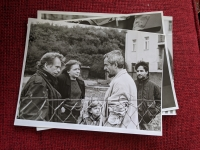 Zleva Václav Havel, Hana Marvanová a Jan Foll; 1990
