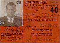 Služební průkaz Gerharda Clagese podepsaný Heinrichem Himmlerem