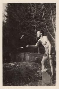U buštěhradského rybníka, 40. léta