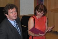 Promoce docentem s manželkou, 2004