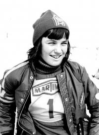 Portrétová fotografie Olgy Charvátové z roku 1974