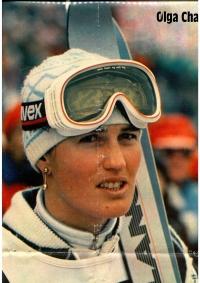 Olga Charvátová v časopisu Stadion, období konce aktivní kariéry, kolem roku 1986