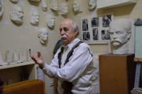 Petro Dzyndra demonstrates his workshop, 2020