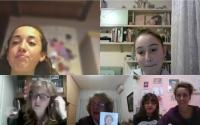 Projekt Příběhy našich sousedů, děti ze školy Scuola ceca při online natáčení