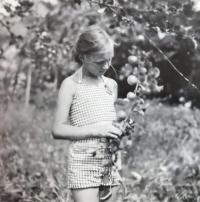 Eva Machková v létě roku 1941