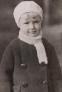 Eva Machková jako dítě