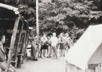 Tábor 233. oddílu ve Šluknově, rok 1969