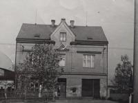 The Hajný family house in Bohatice, circa 1950s
