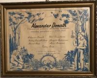 Poďakovanie KKL otcovi Alexandrovi Donathovi za príspevok, január 1947