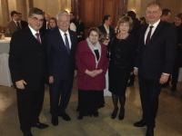 Imrich Donath na stretnutí prezidentov Nemecka Gaucka a Slovenska Kisku