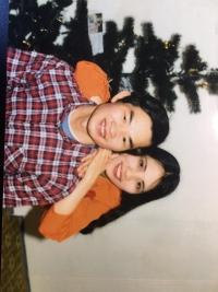 První fotka s manželkou, když přijela do ČR