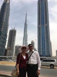 S manželkou v Dubaji