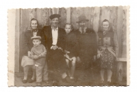 The Talanchuk-Turchenyak family in a special settlement, 1950s