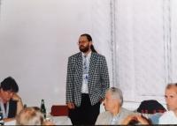Lumír Aschenbrenner jako čerstvě zvolený starosta v roce 1998