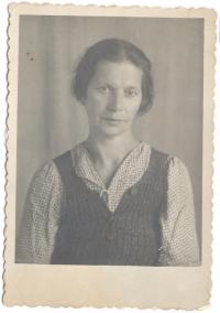 Anna Skobelska, grandmother, at a special settlement, 1950s
