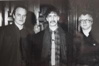 Michael Kocáb, Frank Zappa a Ivan Martin Jirous (1990)