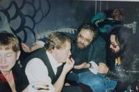 S Václavem Havlem a Vladimírem Hanzelem v roce 1995