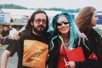 S moderátorkou MTV Vanessou Warwick v roce 1995