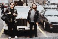 Karel Havelka a muzikant David Peel, New York 1998