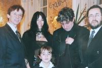 S Ivanem Králem, jeho ženou Cindy, Ivo Pospíšilem a dcerou Karla Havelky Gábi (2003)