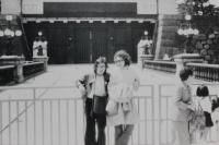 Karel Havelka s kamarádem v Tokiu v roce 1973