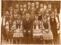 Kostelní sbor ve vesnici Ljašky/Laszki v roce 1929