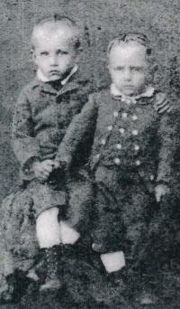 Jaromír a Otakar Volmanovi (cca 1880)