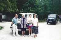 Společná dovolená manželů Havlových a Maněnových (na této dovolené se dozvěděla Olga Havlová, že má rakovinu), Slovinsko, 1994