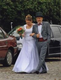Na svatbě dcery Kateřiny, provdané Režné, 2009