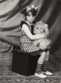 Dcera Kateřina v sovětské školce, 1985
