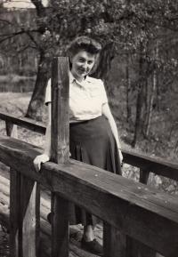 Manželka Jaroslava Pánka Marie Dvořáková,1950