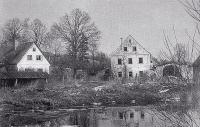 České Rybáře krátce před demolicí, 1952